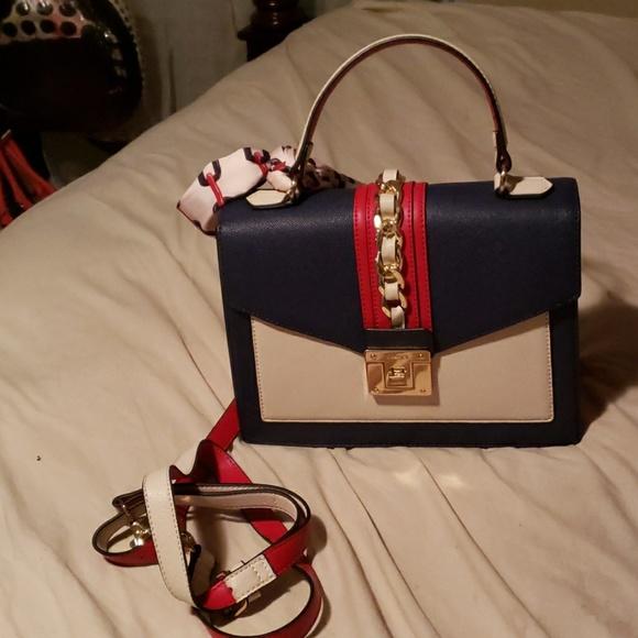 Aldo Bags   Red Blue And White Aldo Bag